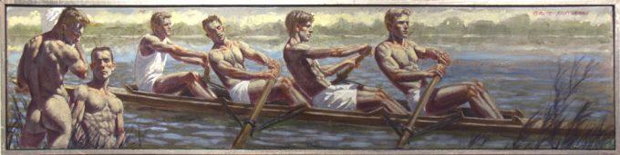 Mark Beard, Rowing Team at Practice