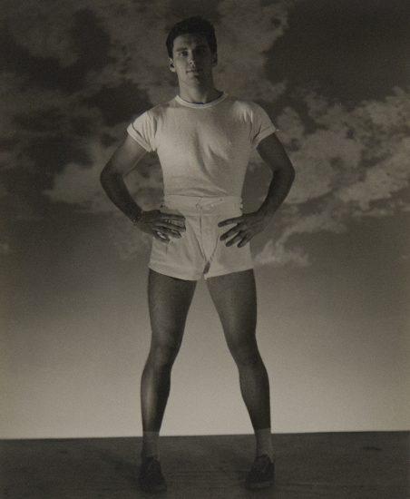 George Platt Lynes, Standing Man with White T-shirt and Shorts (Jack Fontan)