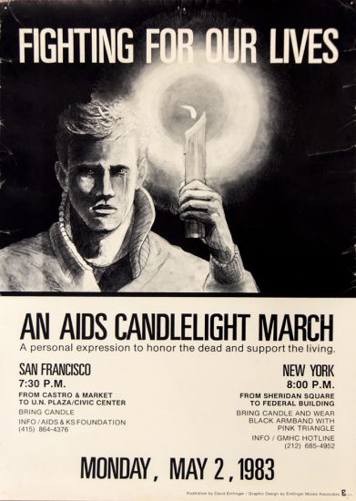 David Emfinger, AIDS Candlelight March Poster