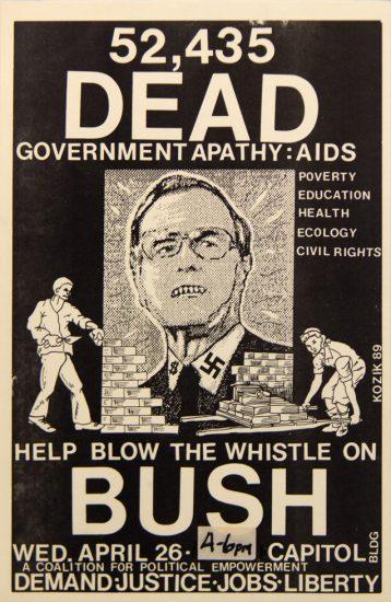 Frank Kozic, 52,435 Dead, AIDS, George Bush