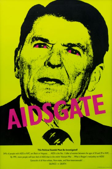 Silence = Death Project, AIDSGATE, Ronald Reagan