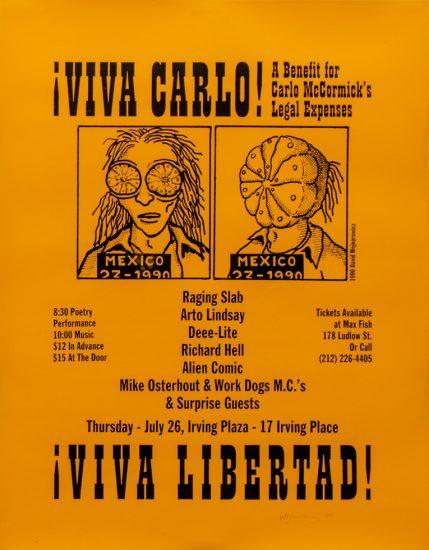 David Wojnarowicz, Viva Carlo Viva Libertad