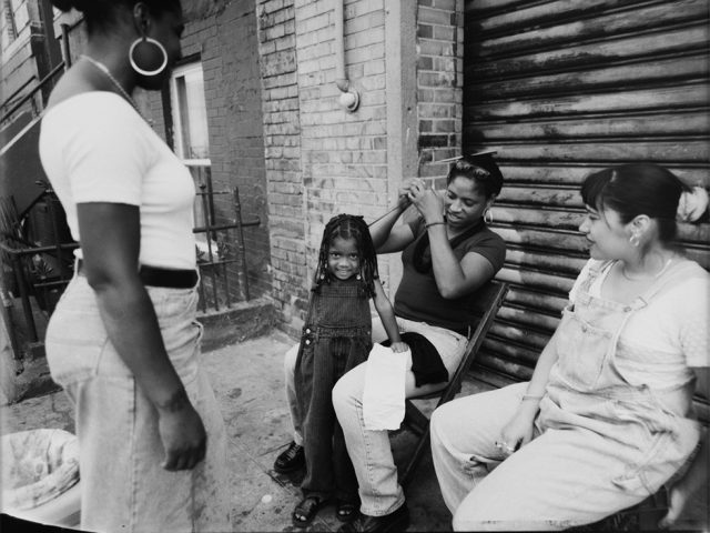 Vincent Gianni, Monica Braiding Destiny's Hair, South 2nd Street, Williamsburg, Brooklyn