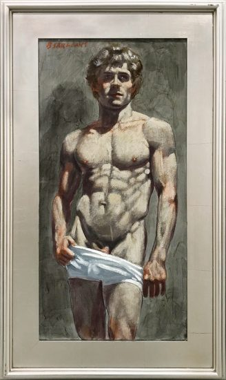 Mark Beard, [Bruce Sargeant (1898-1938)] Bodybuilder in White Shorts