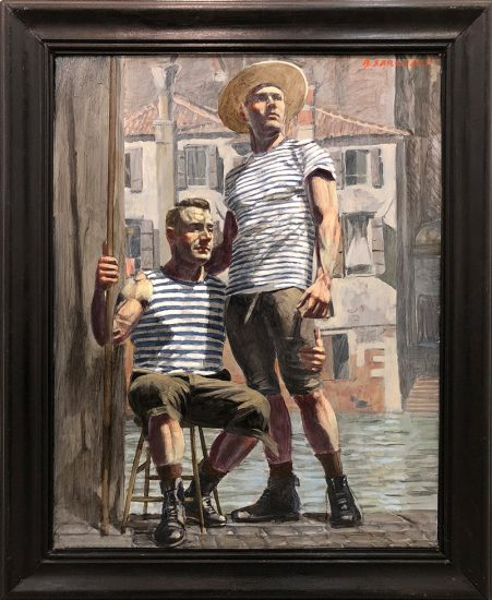 Mark Beard, Bruce Sargeant (1898-1938), Two Gondoliers, One Seated