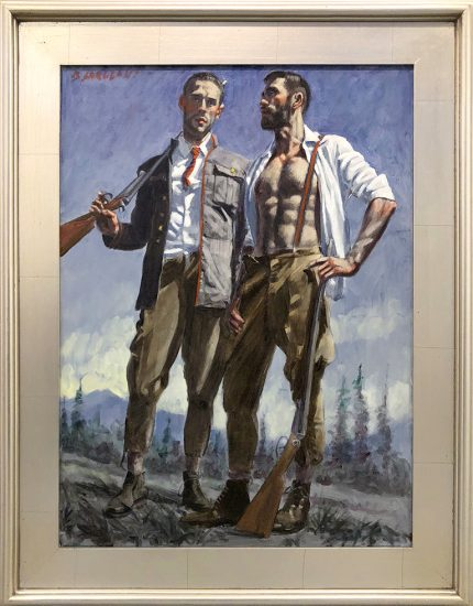 Mark Beard, Bruce Sargeant (1898-1938), Two Hunters, One Wearing Suspenders