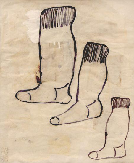 Donald Baechler, Untitled (Socks)