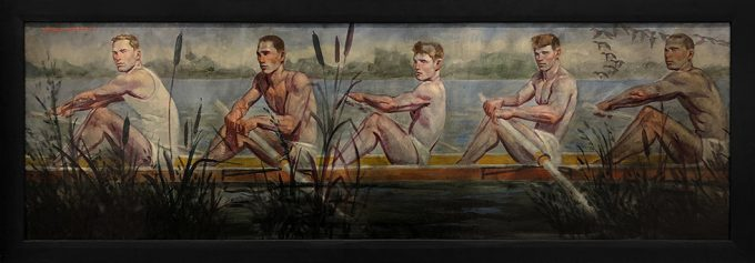 Mark Beard, [Bruce Sargeant (1898-1938)] Five Rowers Gliding Through Cattails