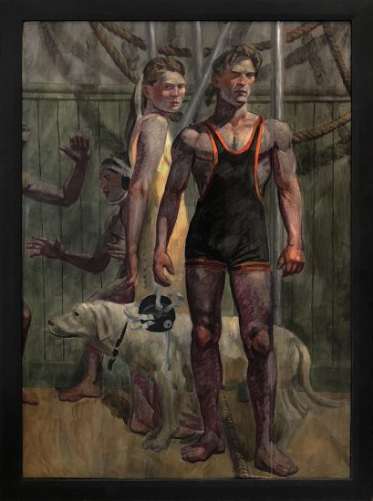 Mark Beard, [Bruce Sargeant (1898-1938)] A Wrestler, His Girlfriend, and Their Dog