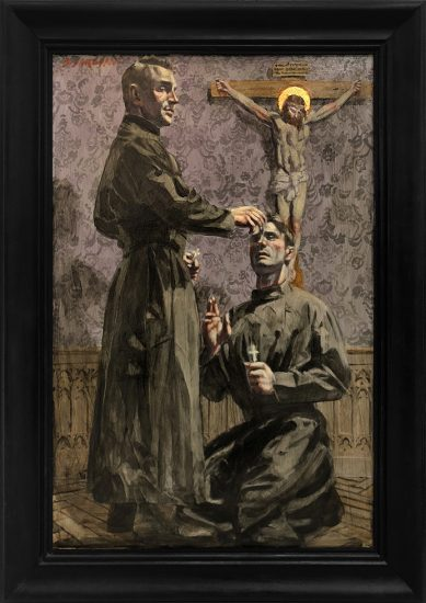 Mark Beard, [Bruce Sargeant (1898-1938)] Two Priests Alone in Their Room