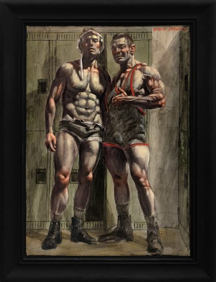 Mark Beard, [Bruce Sargeant (1898-1938)] Young Wrestler and His Mentor