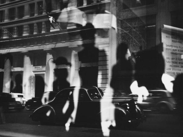 Lisette Model, Reflections, Rockefeller Center, NY